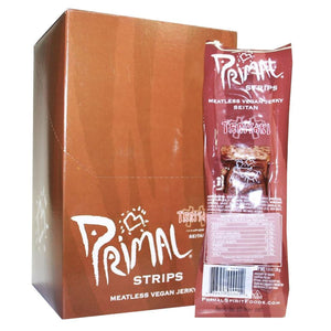 Primal Vegan Jerky | Seitan - Teriyaki Jerky | 1 X 28g. This Product Is :- Vegan
