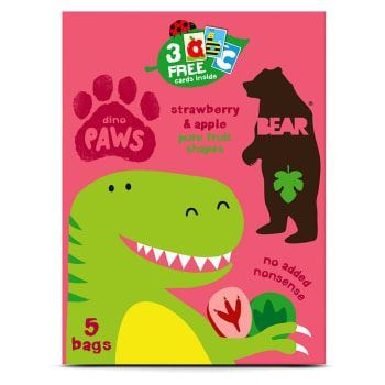Bear | Paws- Strawberry & Apple | 1 X 5 X 20g. This Product Is :- Vegan