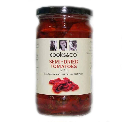 Cooks & Co | Semi Dried Tomatoes In Oil | 1 X 295g. This Product Is :- Vegan