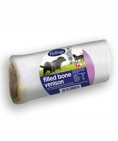 Hollings | Venison Filled Bone For Dogs | 1 x Single