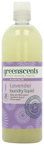 Greenscents | Organic Lavender Laundry Liquid | 1 X 500ml. Sold By Superfood Market
