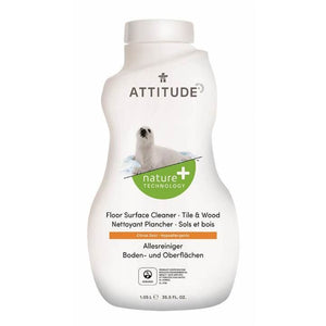 Attitude | Floor Surface Tiles And Wood Citrus Zest | 1 x 1.04ltr | Attitude