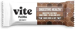 Vite | Vite Flora Bar - Dark Choc & Nut | 1 X 50g. Sold By Superfood Market