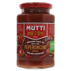 Mutti | Tomato Pasta Sauce - Chilli | 1 X 400g. This Product Is :- Vegan
