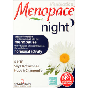 Vitabiotics | Menopace Night Tablets | 1 x 30s