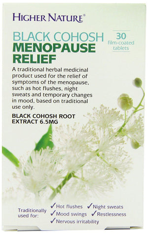 Higher Nature | Black Cohosh Menopause Relief Tablets | 1 x 30s. Sold By Superfood Market