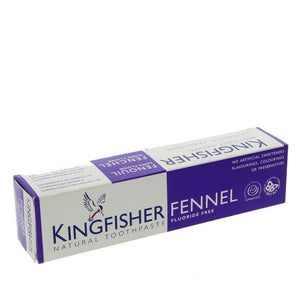 Kingfisher | Fluoride Free Fennel T'paste | 1 x 100 Ml | Kingfisher