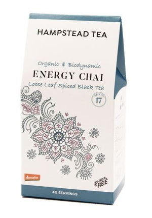 Hampstead Tea London | Hampstead  Organic Biodynamic Energy Chai Leaf Tea | 1 x 100g | Hampstead Tea London