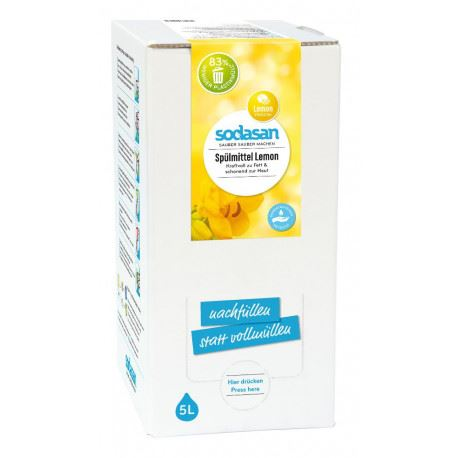 Sodasan | Washing Up Liquid Lemon (box) | 1 X 5ltr. Sold By Superfood Market