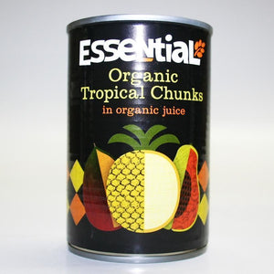 Essential Trading | Tropical Fruits In Org Juice | 1 x 400g | Essential Trading