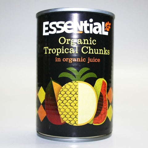 Essential Trading | Tropical Fruits In Org Juice | 1 X 400g. This Product Is :- Vegan,organic