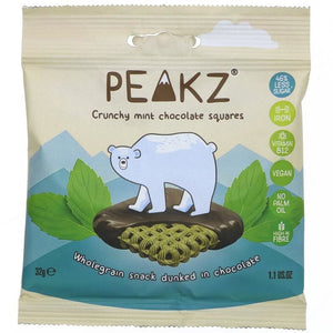 Peakz | Peakz  Crunchy Mint Chocolate Squares Multipack | 24 X (32g X 3). Sold By Superfood Market