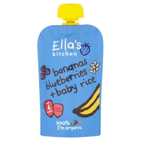 Ella's Kitchen | Banana & Blueberry Baby Rice | 1 x 120g