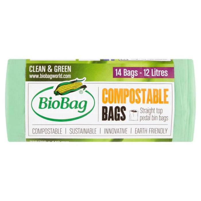 Biobag | Compostable 12ltr Bin Liners | 1 x 14 Bags