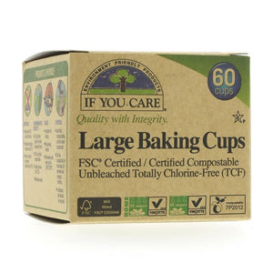 If You Care | Large Baking Cups | 1 x 1 x 60 | If You Care