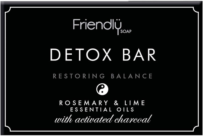 Friendly Soap | Friendly Soap  Detox Bar - Activated Charcoal | 1 x 95g