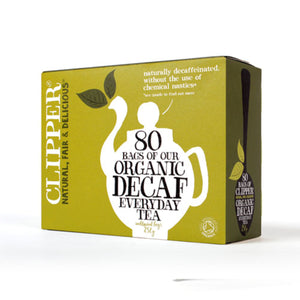Clipper | Organic Everyday Decaffeinated Tea | 1 x 80 Bags