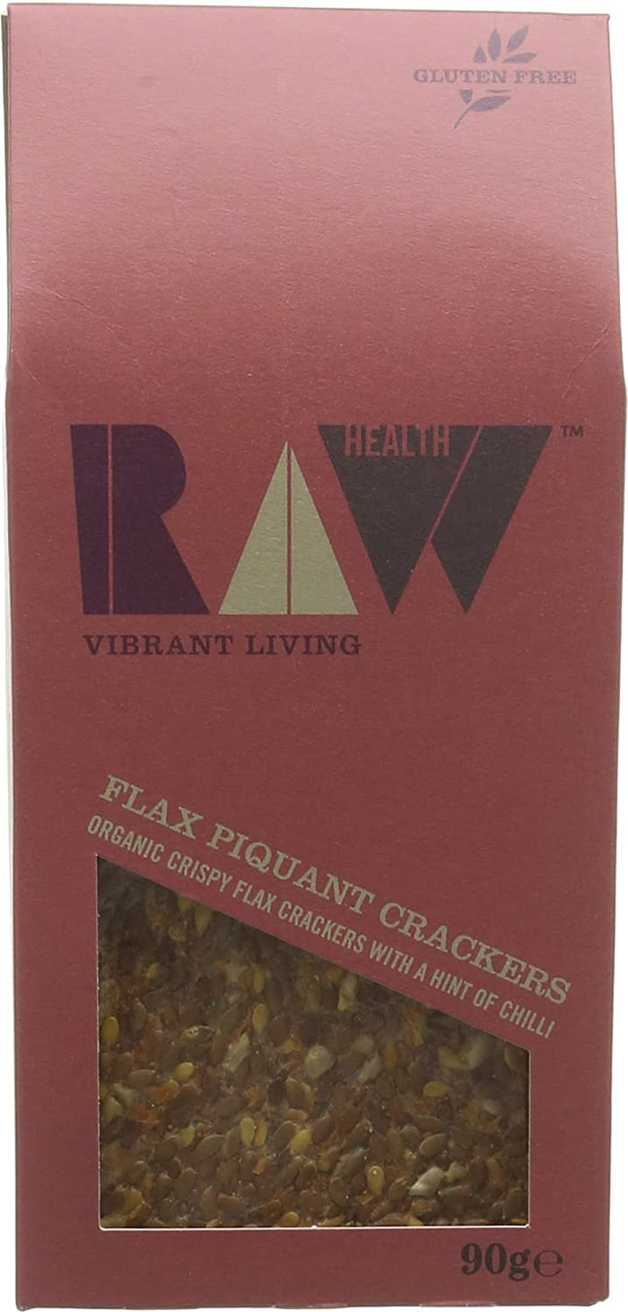 Raw Health | Flax Piquant Tomato Raw Crackers | 1 x 90g
