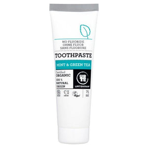 Urtekram | Organic Mint With Green Tea Toothpaste | 1 X 75ml. Sold By Superfood Market