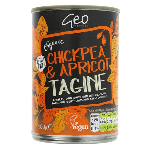 Geo Organics | Chickpea & Apricot Tagine | 1 X 400g. This Product Is :- Vegan,organic