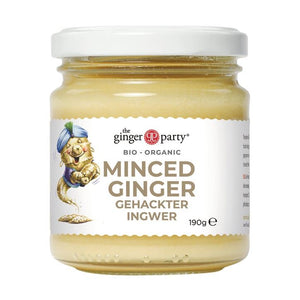 Ginger Party | Organic Minced Ginger | 1 x 190g | Ginger Party
