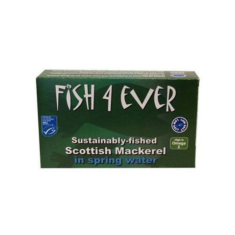 Fish 4 Ever | Scottish Mackerel In Spring Water | 1 x 125g