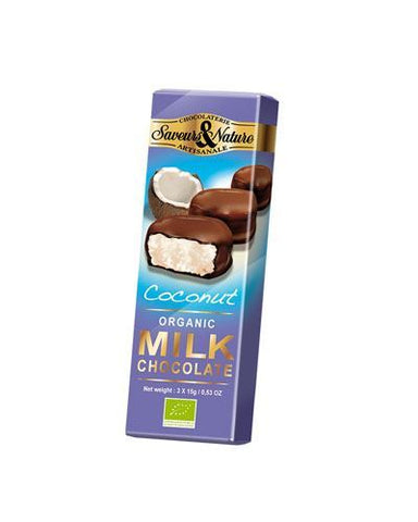 Saveurs & Nature | Milk Chocolate Coated Coconut Bouchees | 1 x 45g