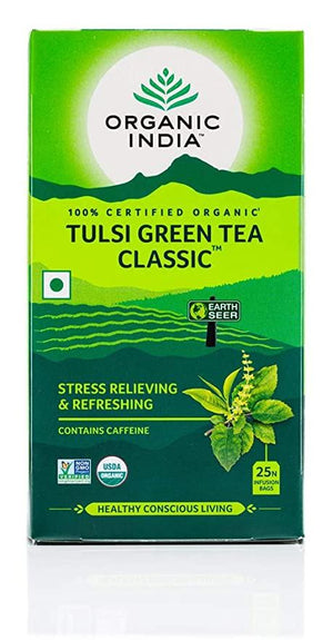 Organic India | Tulsi Tea - Green | 1 X 25 Bags. Sold By Superfood Market