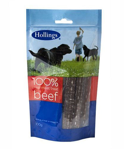 Hollings | Real Meat Treat - Beef - For Dogs | 1 x 100g
