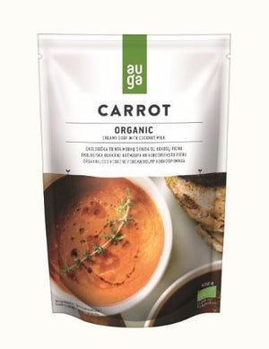 Auga | Organic Creamy Carrot Soup With Coconut Milk | 1 x 400g | Auga
