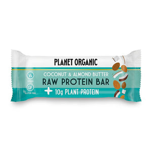 Planet Organic | Organic Raw Protein Bar Almond Butter & Coconut | 1 X 50g. Sold By Superfood Market