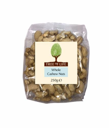 Tree Of Life | Cashew Nuts - Whole | 1 x 250g
