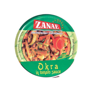 Zanae | Okra In Sauce | 1 X 280g. This Product Is :- Vegan