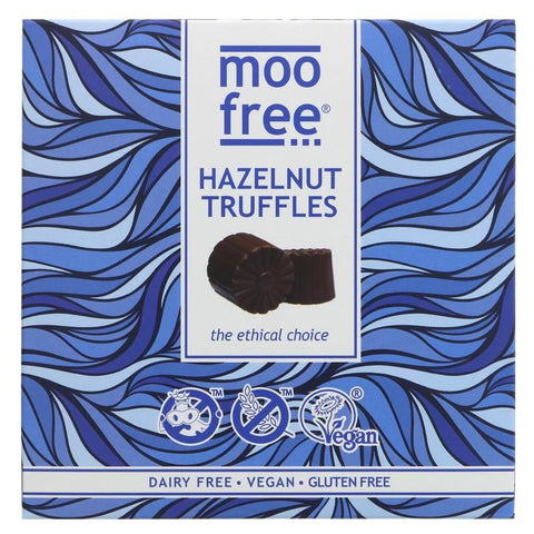 Moo Free | Hazelnut Truffles | 1 X 108g. This Product Is :- Gluten Free,vegan,organic