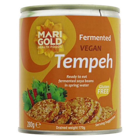 Marigold | Tempeh - Cans | 1 X 280g. This Product Is :- Gluten Free,vegan