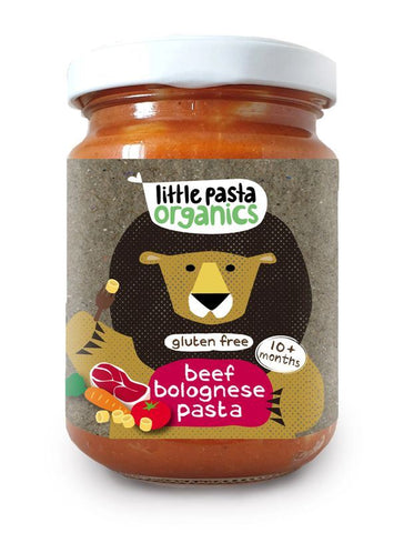 Little Pasta Organics | Organic Gluten Free Beef Bolognese Pasta Baby Food | 1 X 180g. Sold By Superfood Market