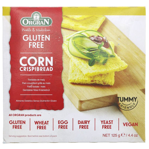 Orgran | Toasted Corn Crispbread | 1 X 125g. This Product Is :- Gluten Free