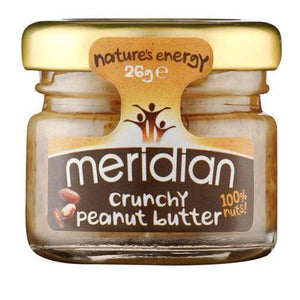 Meridian | Peanut Butter - Crunchy 100% Nuts | 1 x 26g | Meridian