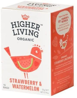 Higher Living | Organic Strawberry & Watermelon | 1 x 15 Bags