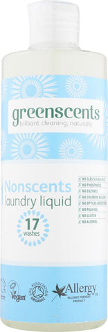 Greenscents | Organic Nonscents Laundry Liquid | 1 X 500ml. Sold By Superfood Market