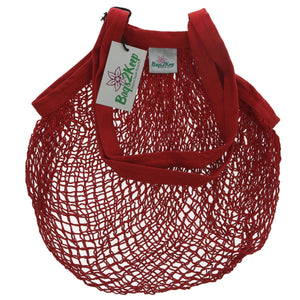 Bags2keep | Red Cotton String Bag | 1 x Bag | Bags2keep