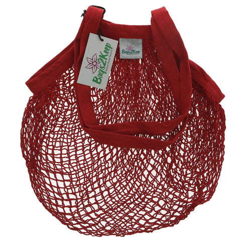 Bags2keep | Red Cotton String Bag | 1 X Bag. This Product Is :- Vegan