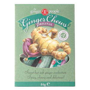 Ginger People | Gin Gins Original Ginger Chews - Large | 1 x 84g | Ginger People