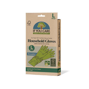 If You Care | Latex Household Gloves- Large | 1 x Large | If You Care