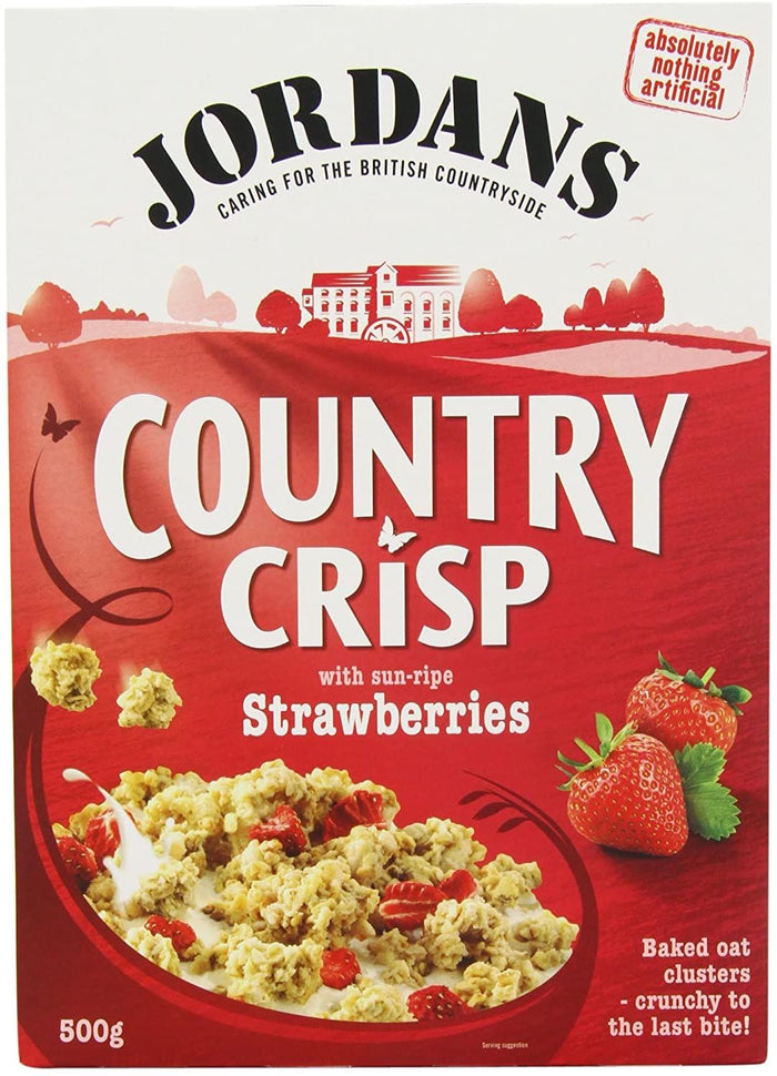 Jordans | Country Crisp - Strawberry Clusters | 1 x 500g