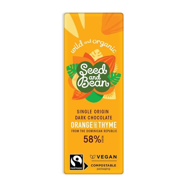 Seed & Bean | Organic & Fairtrade 58% Dark Spiced Ginger Christmas Mini | 1 x 25g
