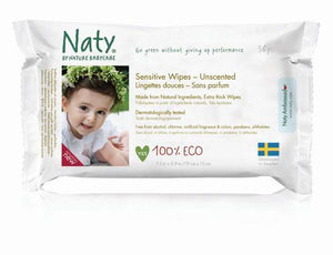 Nature Baby | Sensitive Wipes - Unscented | 1 x 390g | Nature Baby