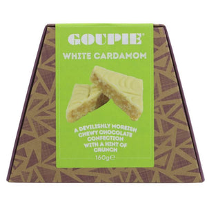 Goupie | White Chocolate & Cardamom | 1 X 180g. Sold By Superfood Market