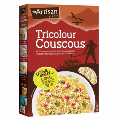 Artisan Grains | Tri-colour Couscous | 1 x 200g
