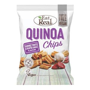 Cofresh Snacks Foods Ltd A | Eat Real Tomato Garlic Quinoa Chips | 24 x 22g